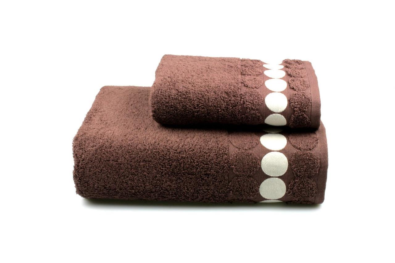 Полотенце махровое Balls коричневое 70х140см