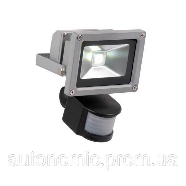 LED прожектор Ledex 10W 6500k с датчиком движения (PD736)
