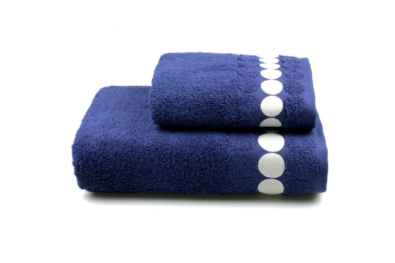 Полотенце махровое Balls синее 50х90см