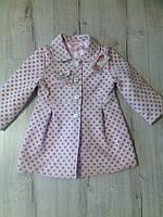 Пальто для девочки нежно розовый  весна-осень