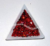 Шестигранники (соты) красные голографические