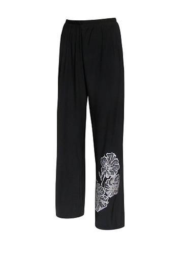 Легкие брюки на резинке Маки plus size