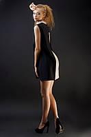Двойное платье трикотаж (нижнее платье)+ креп(верхняя часть)