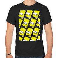 Футболка «Узор Барт Симпсон»