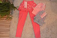Трикотажные легинсы с юбочкой для девочек 86-116 см, фото 1