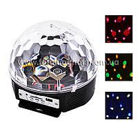 Лазер диско YX-024-M4/X6 (Цветомузыкальная сфера, Цветомузыка, Стробоскоп, Проектор)