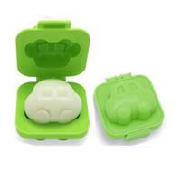Фигурная формочка для вареных яиц и бенто Пластик, Машинка зеленая, Китай, Формочка для варки яиц