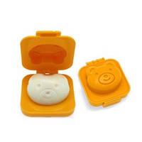 Фигурная формочка для вареных яиц и бенто Мишка оранжевый, Формочка для варки яиц