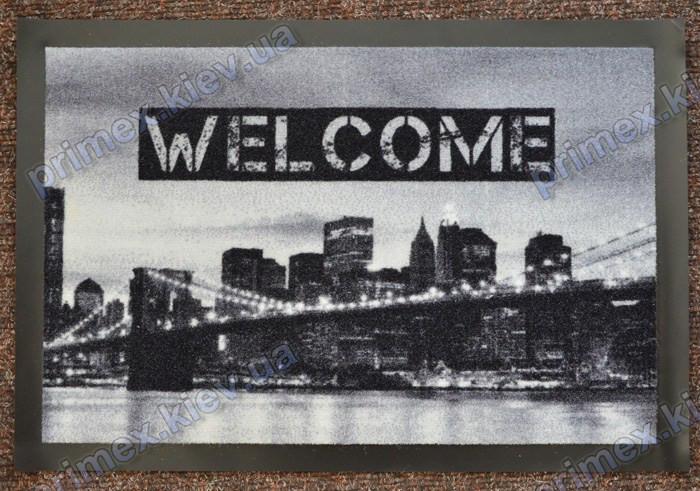 Коврик грязезащитный Манхеттенский мост, 40х60см., серый