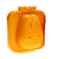 Фигурная формочка для вареных яиц и бенто Пластик, Зайка оранжевый, Китай, Формочка для варки яиц