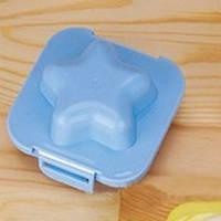 Фигурная формочка для вареных яиц и бенто Пластик, Звездочка голубая, Китай, Формочка для варки яиц