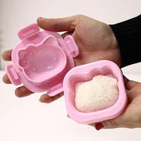 Фигурная формочка для вареных яиц и бенто Китти розовая, Формочка для варки яиц