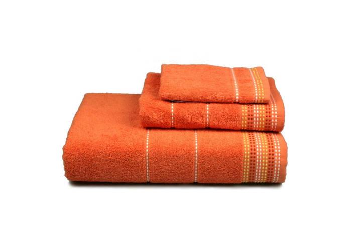 Полотенце махровое Dream оранжевое 70х140см, фото 2