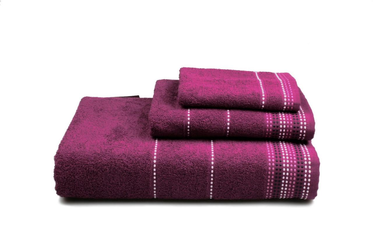 Полотенце махровое Dream фиолетовое 70х140см