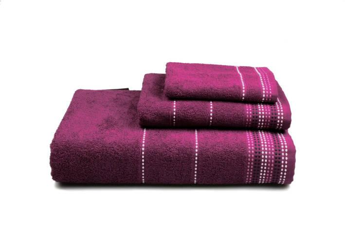Полотенце махровое Dream фиолетовое 70х140см, фото 2