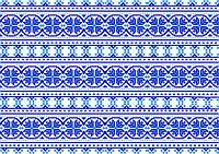 Вышиванка голубая  Вафельная картинка