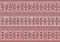 Вышиванка красная Вафельная картинка