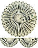 Доллар веер Вафельная картинка