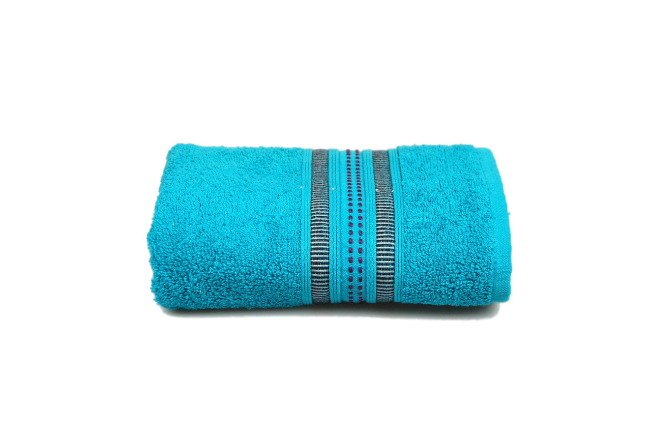 Махровое полотенце MISTERIA бирюзовое 50×90см