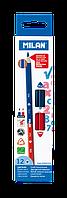 Карандаши двухцветные сине-красные Milan 12 шт (ml.0702312)