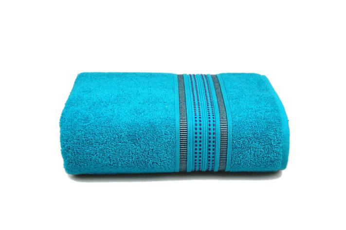 Махровое полотенце MISTERIA бирюзовое 70×130см, фото 2