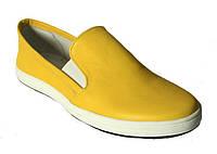 Слипер-1 желтая кожа, фото 1