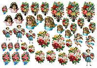 Ангелы  и розы  Вафельная картинка