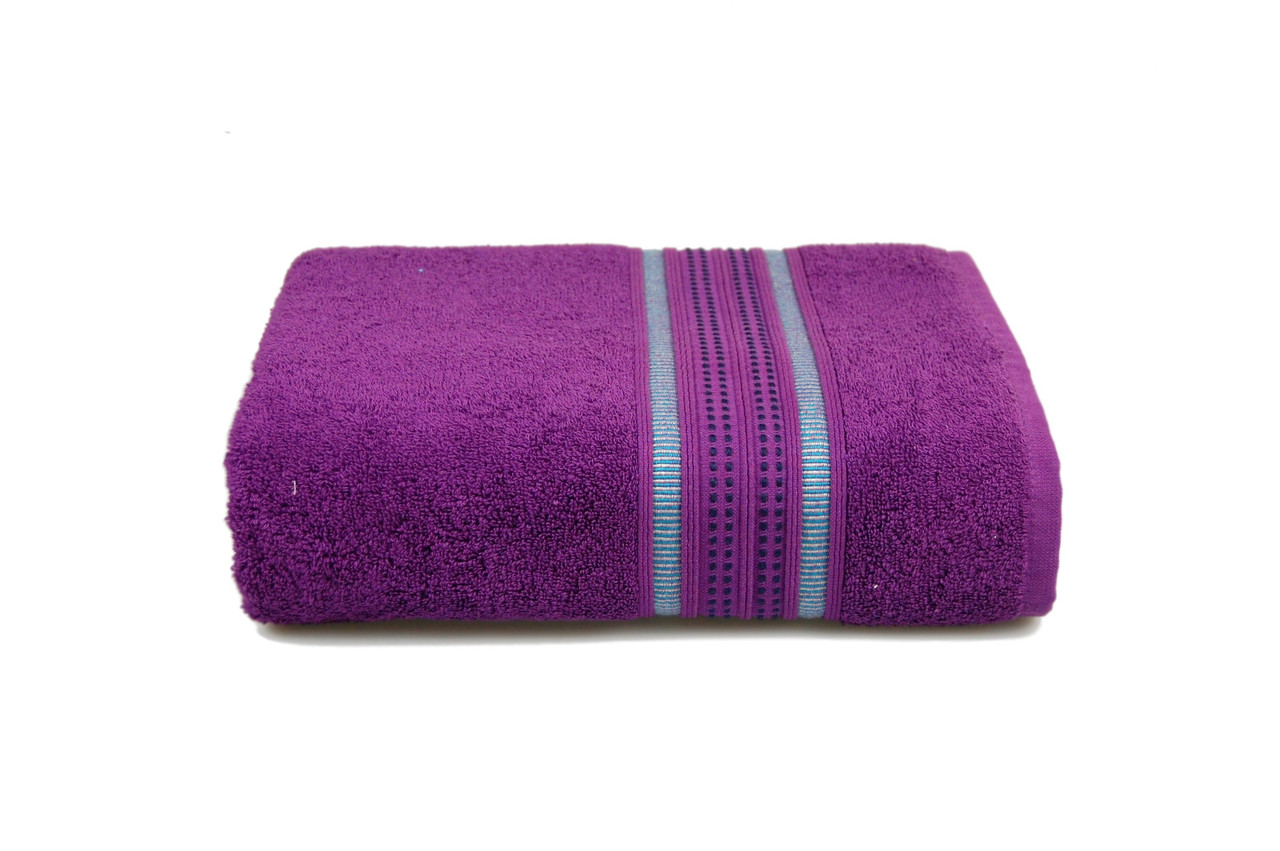 Махровое полотенце MISTERIA фиолетовое 70×130см