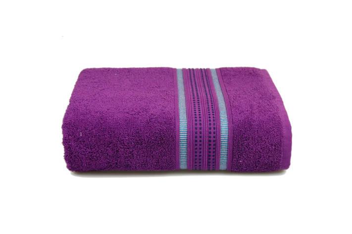Махровое полотенце MISTERIA фиолетовое 70×130см, фото 2