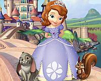 Принцесса София прямоуг Вафельная картинка
