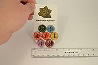 Пуговицы декоративные керамические ручной работы набор 7 штук