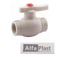 Кран шаровый PPR 50 Alfa Plast
