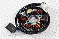 Статор магнето 6 катушек (генератор) скутер 50-100 куб.см