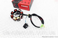 """Статор магнето 8 катушек - """"6+2"""" (генератор) STAR скутер 50-100 куб.см"""