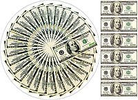 Доллар веер 2 Вафельная картинка