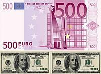 Евро большой+доллар Вафельная картинка
