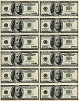 Доллар 12шт Вафельная картинка