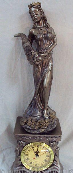 Статуэтка Фортуна с рогом изобилия  с часами 45см