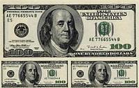 Доллар большой и 2 средних Вафельная картинка