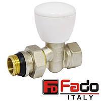 Кран радиаторный 1/2'' прямой верхний FADO NEW Италия