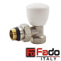 Кран радиаторный 1/2'' угловой верхний FADO NEW Италия