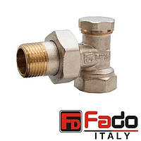 Кран радиаторный 1/2'' угловой нижний FADO Classic Италия
