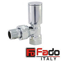 Кран радиаторный хром 1/2'' угловой верхний FADO Италия
