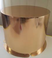 Ексклюзивная коробка для торта золото\золото350\265(код 02017)