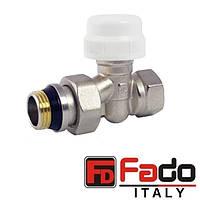 Кран радиаторный 3/4'' термостатический прямой FADO Италия