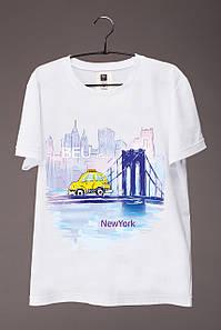 Футболка мужская с принтом Нью - Йорк (машина)