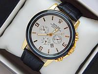 Мужские (Женские) кварцевые наручные часы Rolex на кожаном ремешке с датой, фото 1