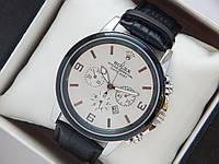 Чоловічі (Жіночі) кварцові наручні годинники Rolex на шкіряному ремінці з датою, фото 1