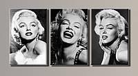 "Модульная картина на холсте из 3-х частей ""Marilyn Monroe"""