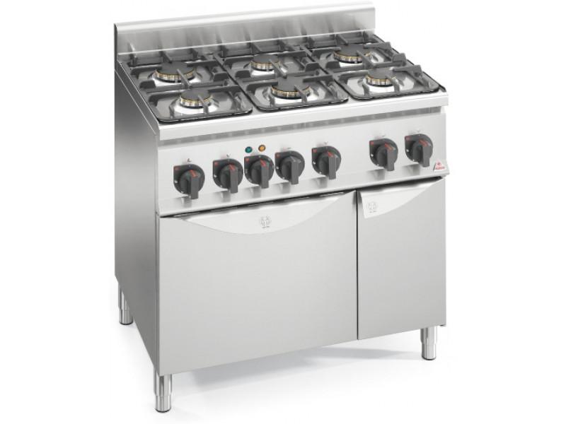 Плита газовая 6-ти конфорочная с духовкой 6 кВт Bertos G6F6+T